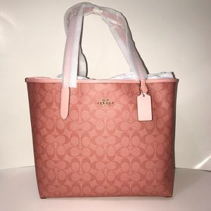 Coach City Tote Candy Pink color NWT